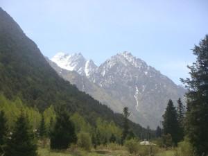 Dagstur mot disse fjellene (5000 moh), - men ikke til topps.