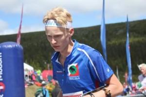 Andreas løper inn til seier(bilde fra orientering.no).