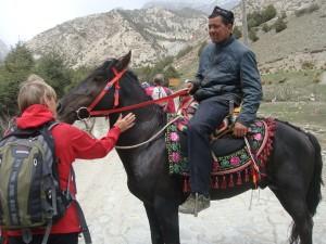 Det var mulighet for hesteskyss til fjells.